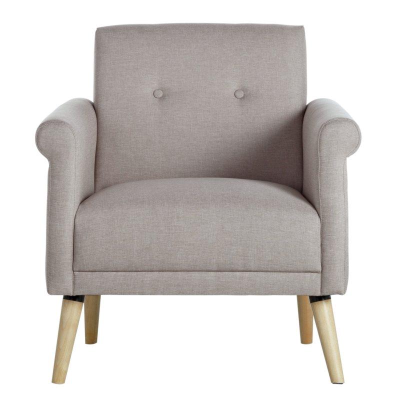 Light grey fabric armchair