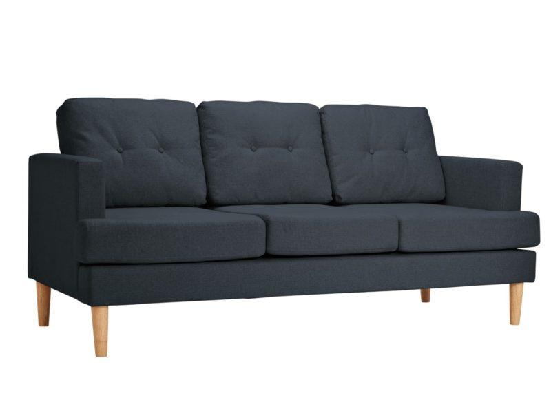 Dark grey 3-seater sofa