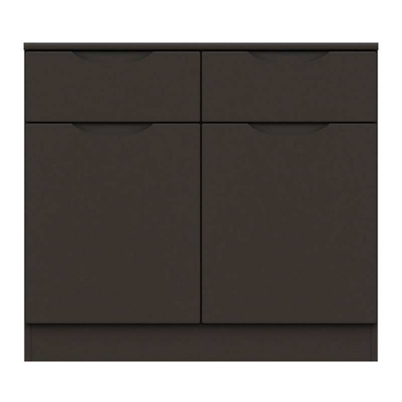 Graphite grey gloss 2-door sideboard