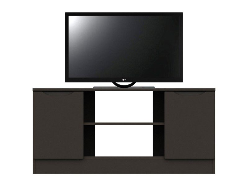 Graphite grey gloss corner TV unit