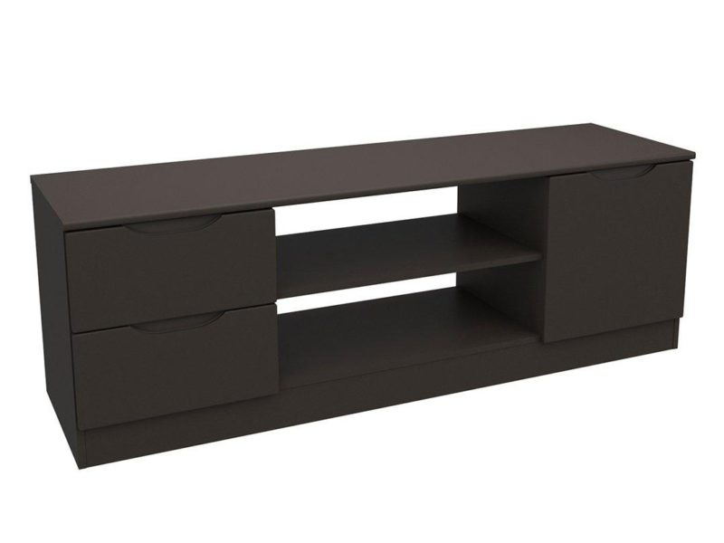Graphite grey gloss TV unit