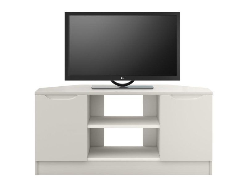 Grey gloss corner TV unit