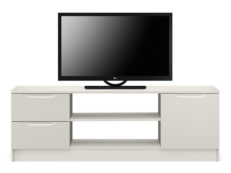 Wide grey gloss TV unit
