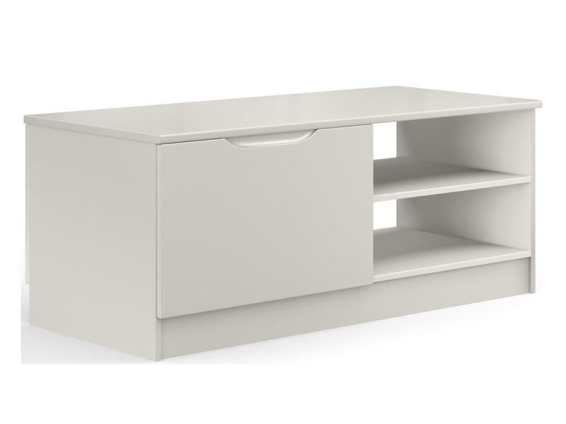 Grey gloss storage coffee table