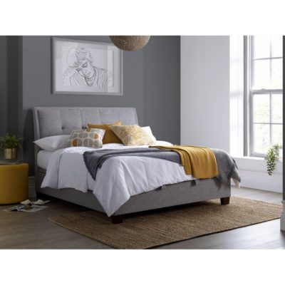 Livingstone grey fabric storage bed