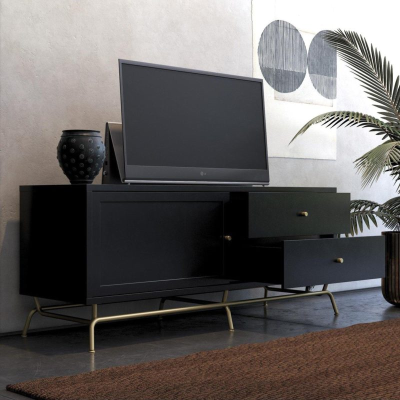 Black TV Stand and Storage