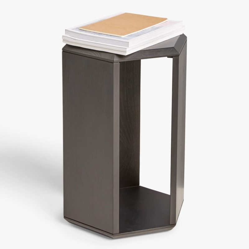 Black-painted side table