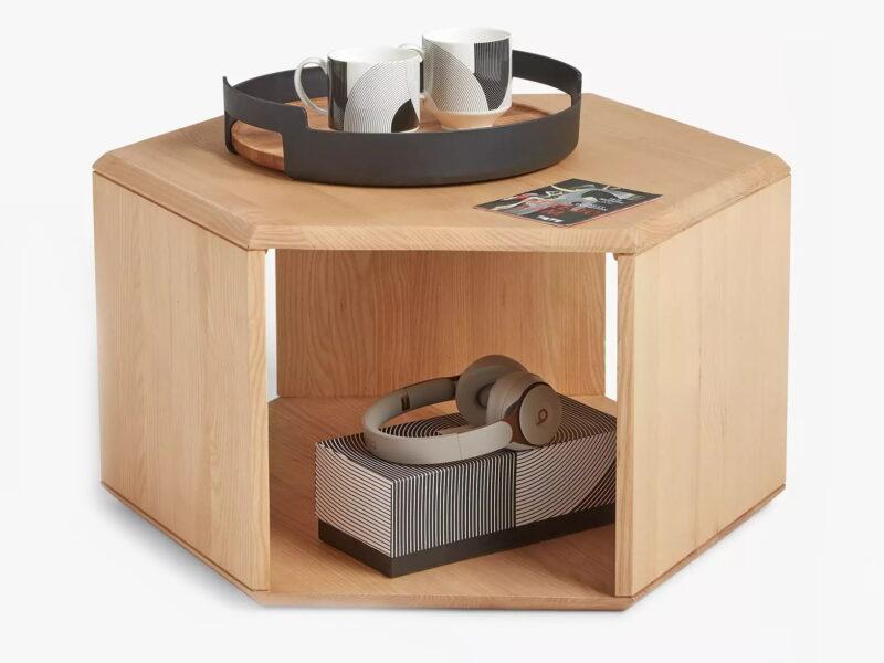 Hexagonal storage coffee table