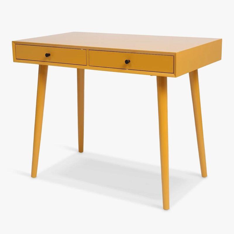Mustard colour desk