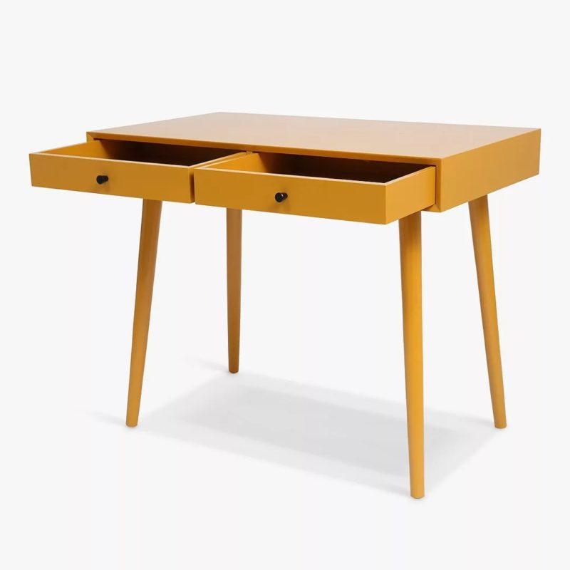 2 drawer mustard desk