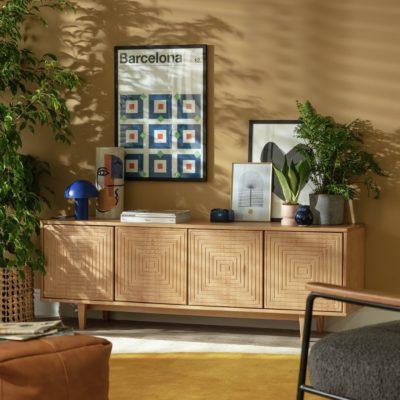 4-door oak sideboard