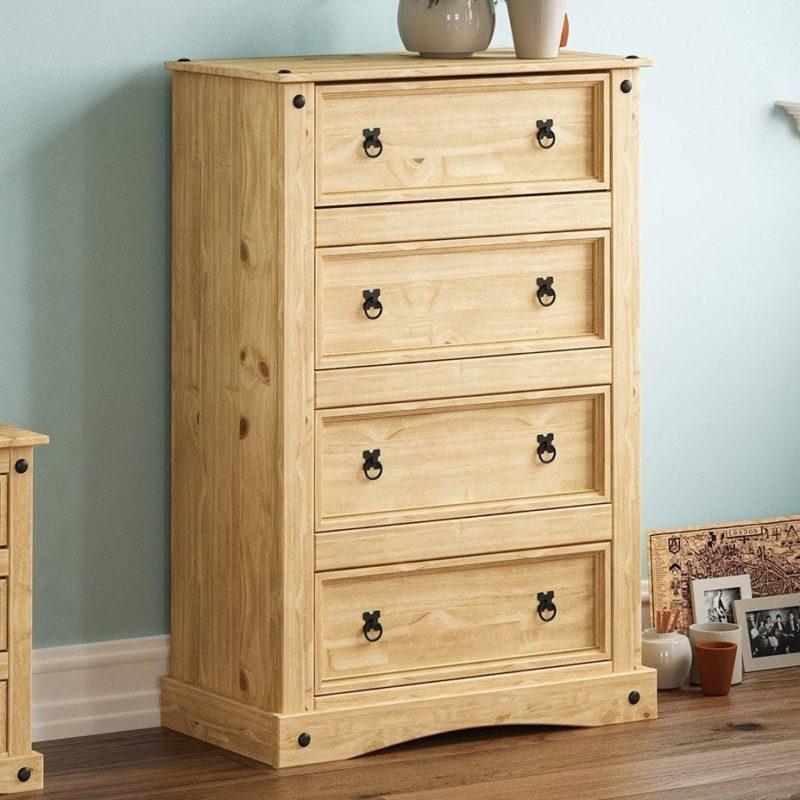 Pine 4-drawer chest