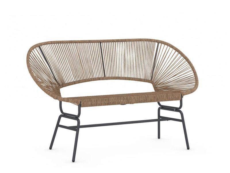 Rattan garden sofa - natural