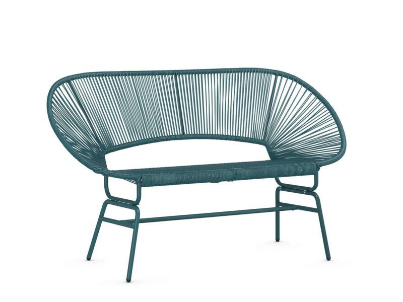Teal garden sofa