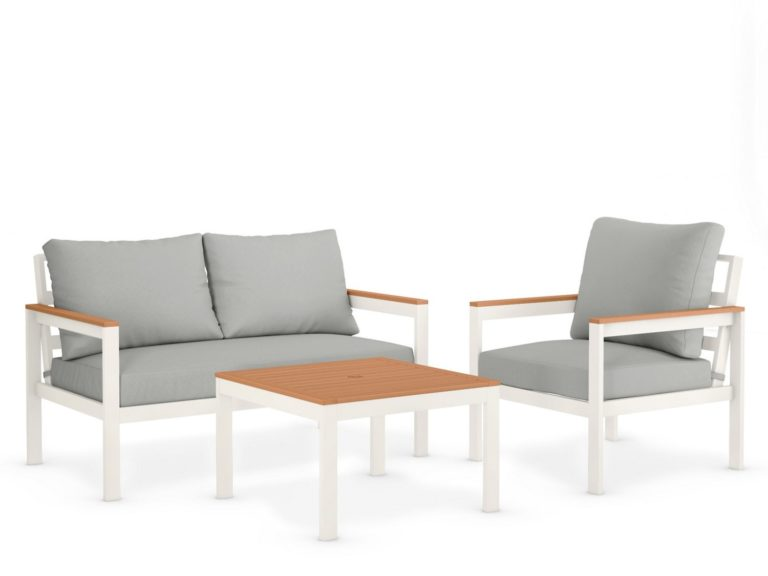 3-seater garden set with table