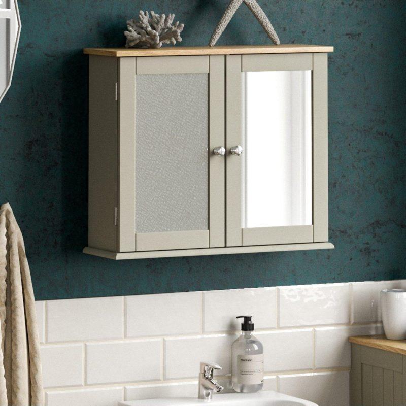 Grey 2-door bathroom cabinet