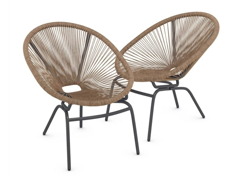 Conical garden chairs - natural