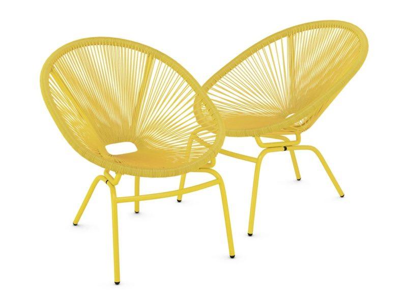 Pair of Ochre Garden Chairs