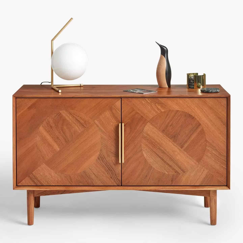 Acacia wood sideboard