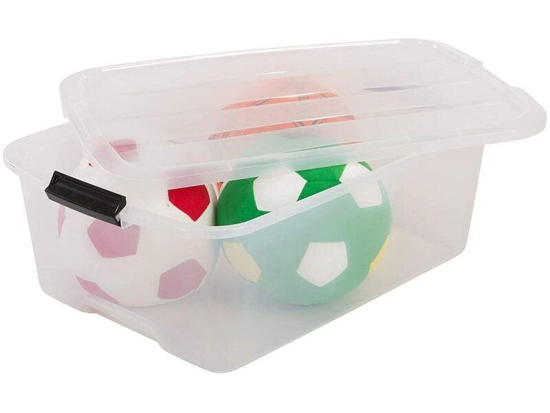 Clear under bed storage container