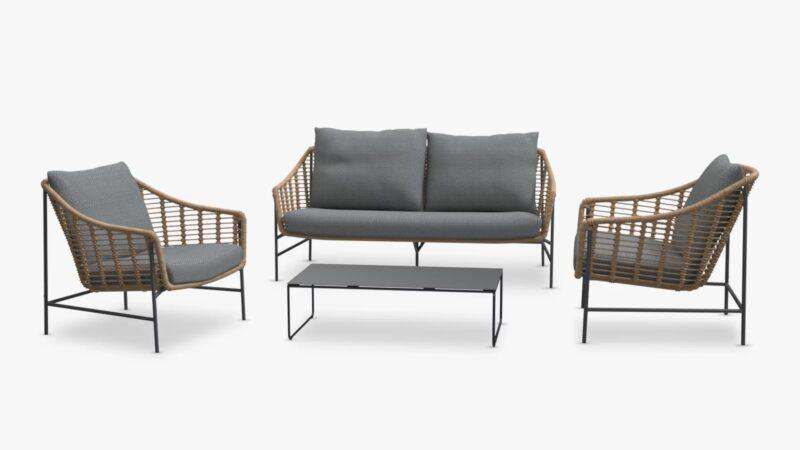 Outdoor lounging set