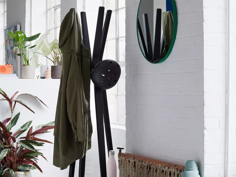 Contemporary black coat stand