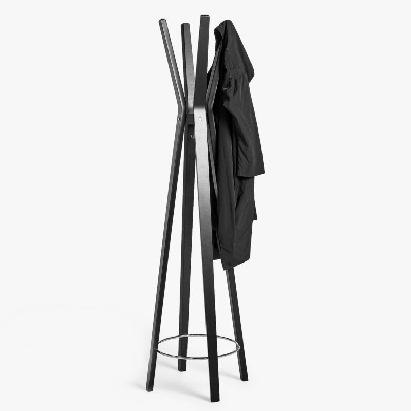 Black-painted coat stands