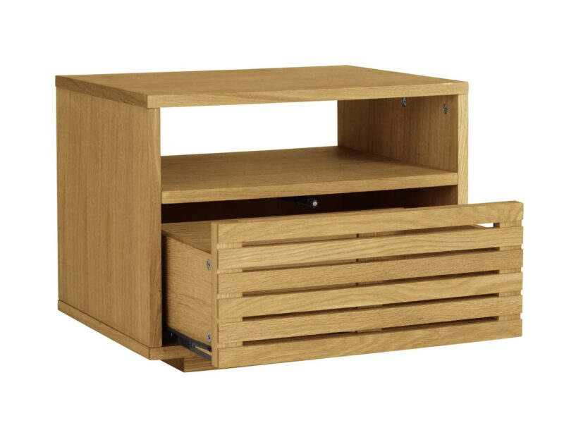 1 drawer bedside table with slatted drawer front