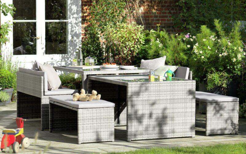 Rattan effect garden furniture set