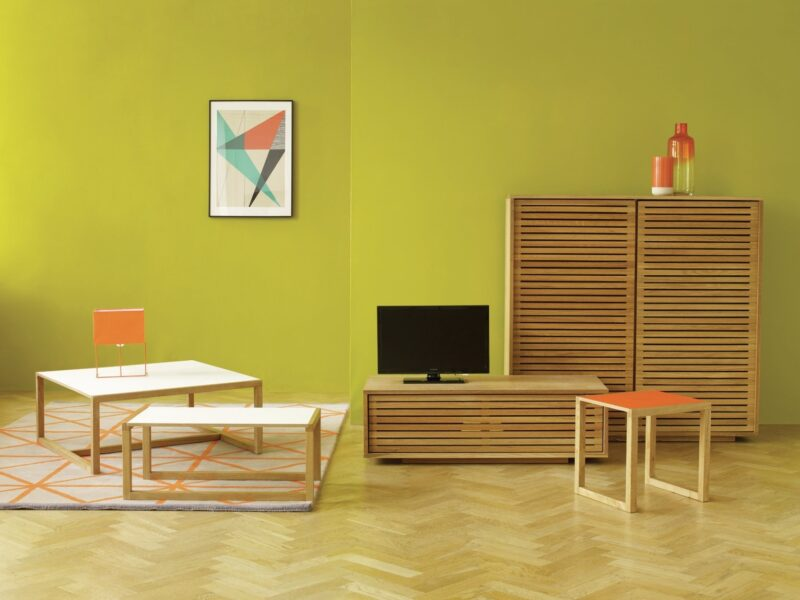 Slatted oak sideboard and tv stand