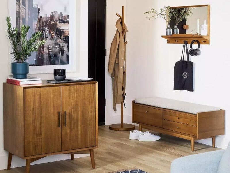 Mid-century-style hallway storage furniture