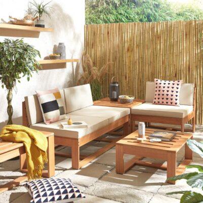 Eucalyptus garden corner sofa set