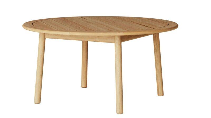 Round teak garden dining table