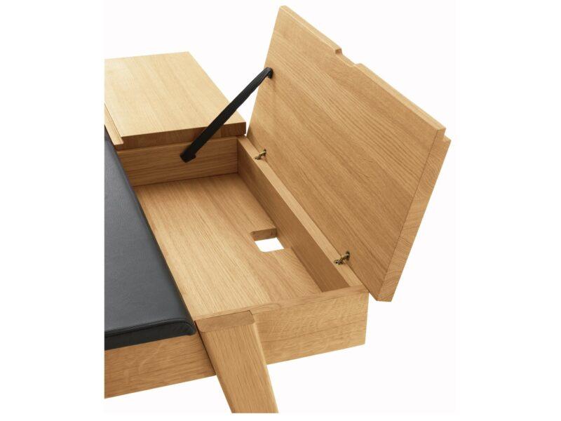 Desk storage compartment