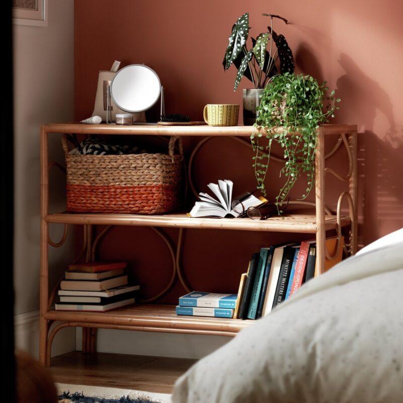 3-tier rattan bookcase