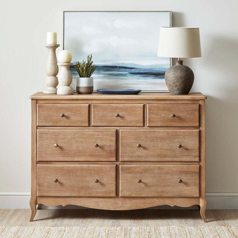Mango wood 4 plus 3 drawer chest