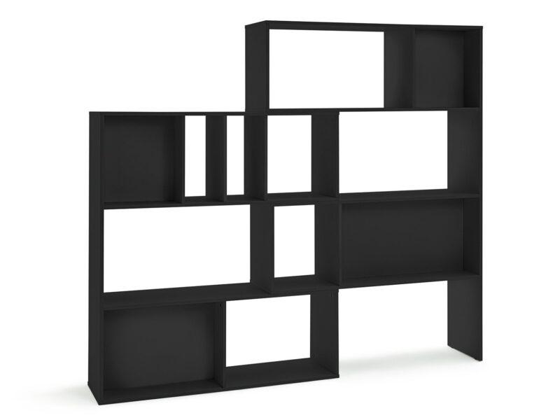 Black extending shelf unit