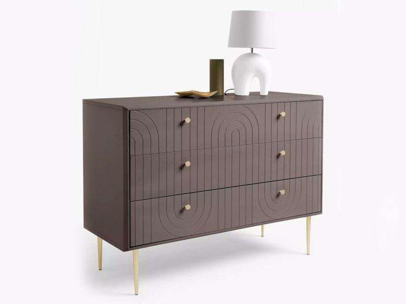 Dark grey, art deco style drawer chest