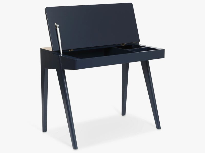 Storage desk with lid up
