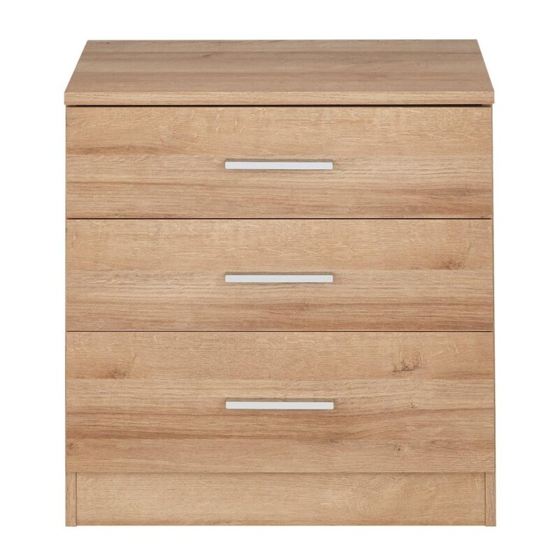 Light oak chest with 3 drawers
