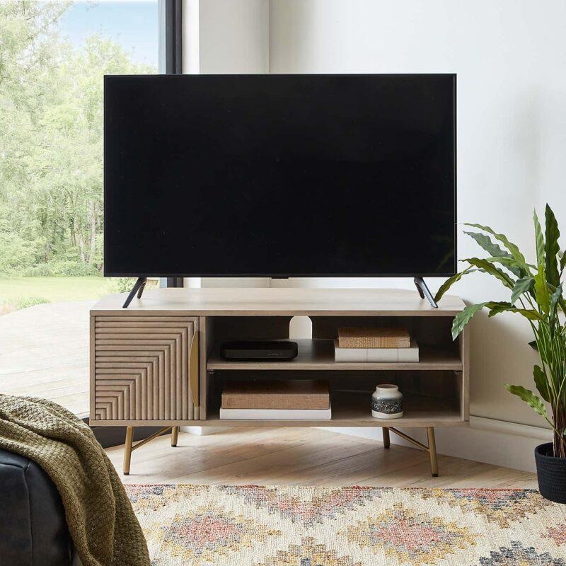 Mango corner TV stand