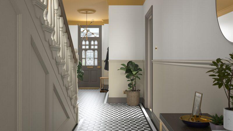 Georgian-style hallway