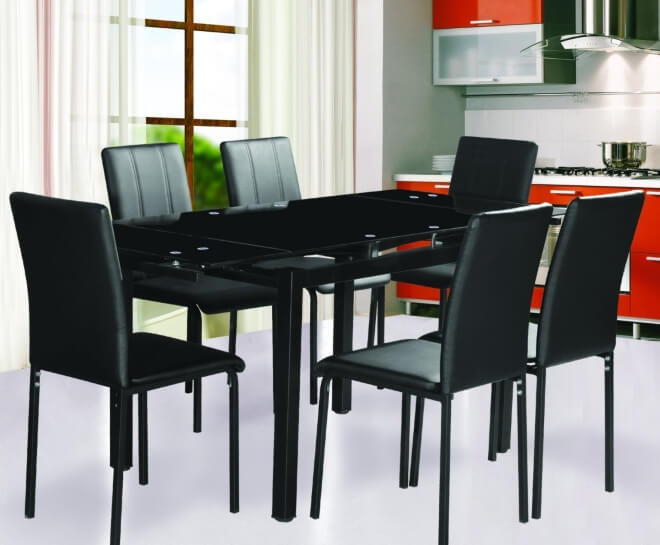 Extending Black Dining Tables The Furniture Co : 7 Star Extending Dining Table in Black from thefurnitureco.uk size 660 x 545 jpeg 38kB