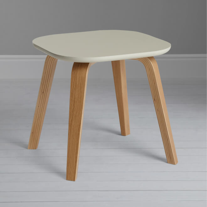 Side table with smoke coloured top