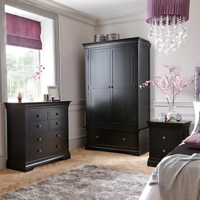 black painted solid oak bedroom furniture the furniture co