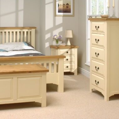 choice of 4 cream bedroom furniture sets with a wardrobe drawer
