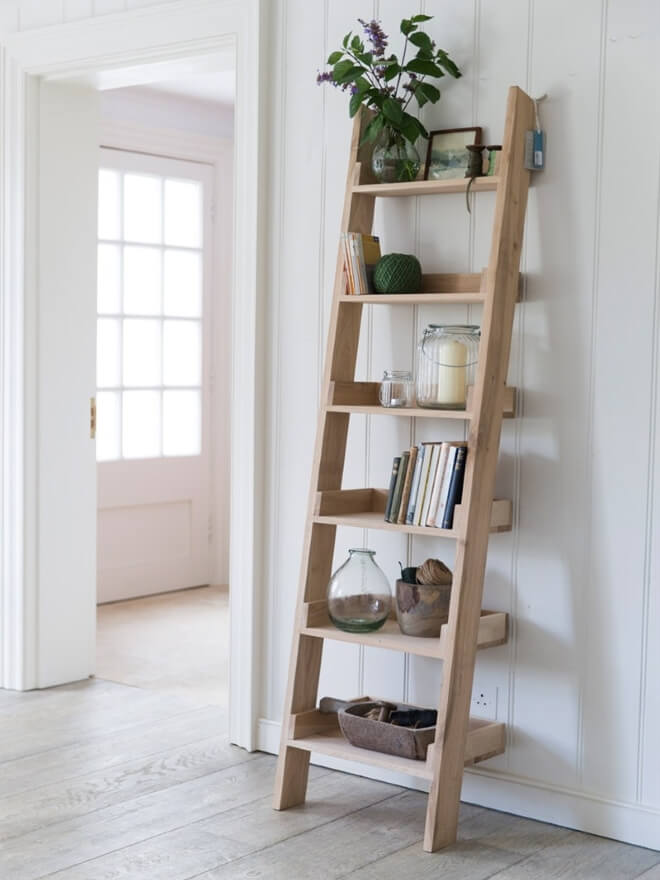 Leaning Ladder Style Bookshelves The Furniture Co