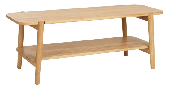 Contemporary style oak coffee table
