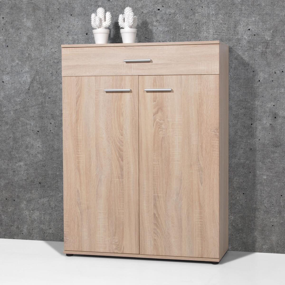 Modern shoe cupboard with a Sanremo oak finish