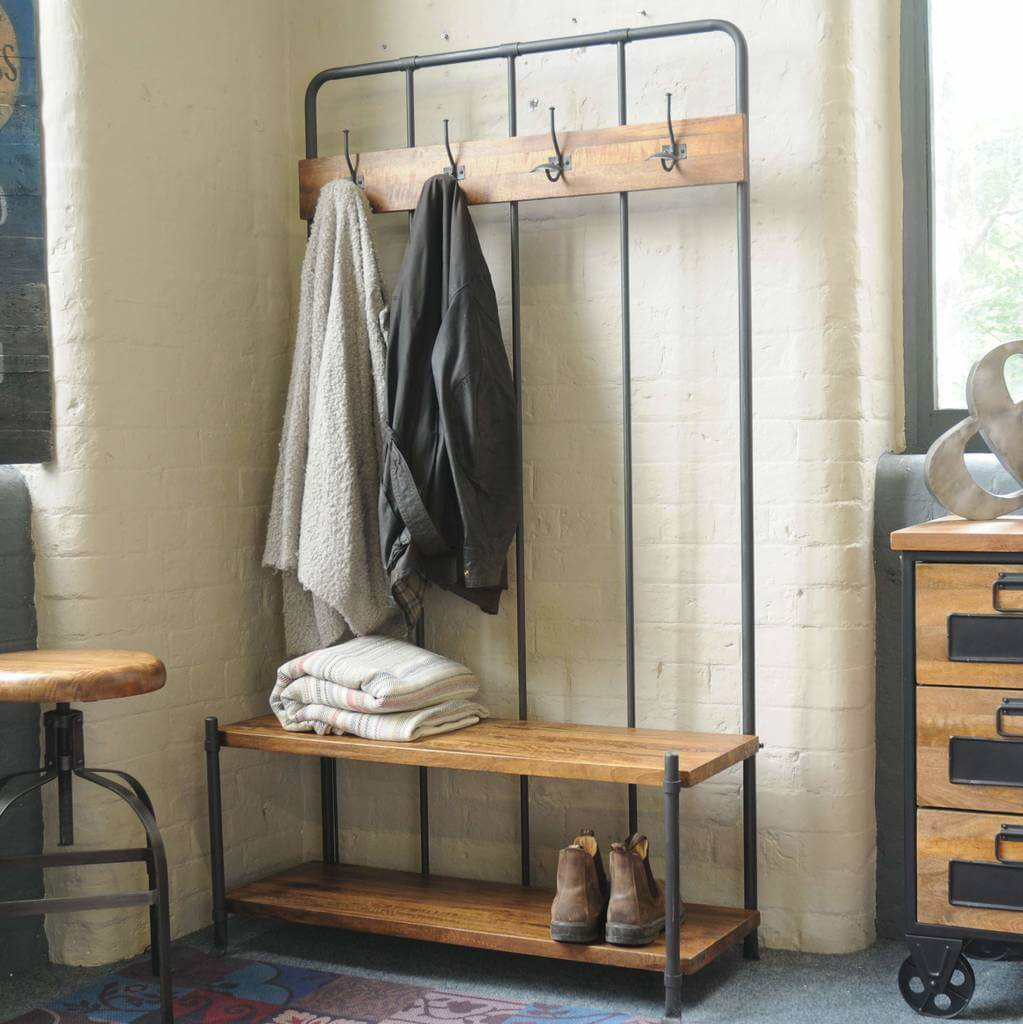 Cloakroom style storage bench